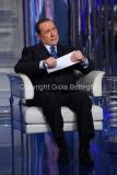 25/05/2016 Roma Berlusconi ospite di Bruno Vespa a porta a porta