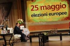 15/05/2014 Roma Berlusconi ospite di Anna La Rosa a Telecamere
