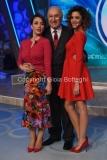 02/10/2016 Roma prima puntata di Domenica in , nella foto Manuela Zero la cantante, Chiara Francini e Pippo Baudo