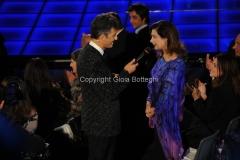 21/11/2011 Roma, seconda puntata dello spettacolo di Fiorello nella foto Edvige Fenech