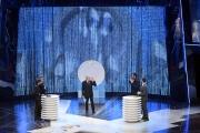15/10/2016 Roma prima puntata del programma di rai uno 10 cose, nella foto i conduttori Flavio Insinna e Federico Russo con Cattelan Buffon e Lippi