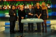 29/1/09 festeggiamenti per la puntata di porta a porta numero 1500, nella foto Vespa, Prestigiacomo , Turco, Marini, Al Bano