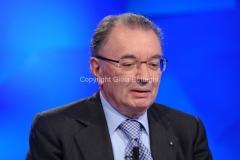 Roma29/05/2013 Giorgio Squinzi intervistato nella seconda puntata di Next2 da Annalisa Bruchi per rai2