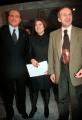 Lucia Anninziata in RAI con Berluscono e Bertinotti