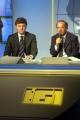 Clemente Mimun direttore del tg1 e Flavio Cattaneo