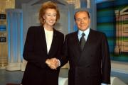 porta a porta con Berlusconi e Letizia Moratti