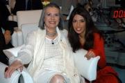 Laura Biagiotti con una delle figlie nella trasmissione  porta a porta
