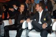 Michael Schumacher e Rubens Barrichello alla trasmissione Porta a porta