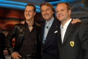 Michael Schumacher e Rubens Barrichello  Montezemolo  alla trasmissione Porta a porta