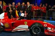 Jean   Todt e  Rubens Barrichello con Maria Grazia Cucinotta alla trasmissione Porta a porta