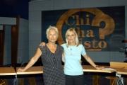 Il nuovo studio di CHI L'HA VISTO Federica sciarelli e la regista Patrizia Belli