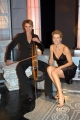 UNA NOTTE CON ZEUS 20 puntate raitre seconda seratapresenta Daniela Poggicon lei nelle foto la musicista Giovanna Fabulari