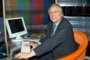 Foto  Gioia Botteghi/ omega Roma 04/02/2005  In studio trasmissione di raiunoBATTI E RIBATTI il nuovo conduttore Riccardo Betti.