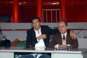 14/2/05conferenza stampaMIO FRATELLO E' PAKISTANO MediasetTeo Mammucari e Giovanni Benincasa regista