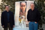 7/3/05Hotel Rwanda conferenza stampa romanelle foto: con il regista Terry George  con Andre Guerra per le musiche originali