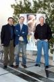 7/3/05Hotel Rwanda conferenza stampa romanelle foto: con il regista Terry George  con Andre Guerra per le musiche originali e Roberto Citran unico attore italiano