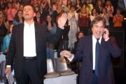 prima puntata di ASSOLUTAMENTE raiunonelle foto: Fabrizio Frizzi con Fabrizio Del Noce