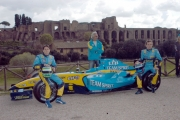 17/04/05ROADSHOW RENAULT Roma Circo MassimoF. Briatore, F. Montagny, G. Fisichella