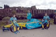 Gioia Botteghi/OMEGA 17/04/05ROADSHOW RENAULT Roma Circo MassimoF. Briatore, F. Montagny, G. Fisichella