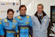 Gioia Botteghi/OMEGA 17/04/05ROADSHOW RENAULT Roma Circo MassimoPhilip Dauger direttore generale di Renault Italia, F. Montagny, G. Fisichella
