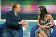 Gioia Botteghi/OMEGA  25/05/05Ambra Angiolini e Michele Mirabella Presenteranno la versione Estiva di Cominciamo bene  su raitre tutte le mattine a partire dal 6/6/05