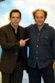 15/06/05Conferenza stampa del film MADAGASCARnelle foto:Alex ( Alessandro Besentini) che dalla la voce al leone Alex e Ben Stiller nella versione Americana
