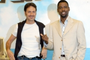 Gioia Botteghi/OMEGA 15/06/05Conferenza stampa del film MADAGASCARnelle foto:Francesco Villa detto Franz da la voce al leone Marty e l'attore Amricano Chris Rock
