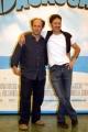 15/06/05Conferenza stampa del film MADAGASCARnelle foto:Alex e Franz Alessandro Besentini e Francesco Villa che dalla la voce al leone Alex e alla Zebra Marty