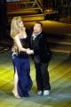 Ballando con le stelle Milly Carlucci la conduttrice del programma con il maestro Paolo Belli