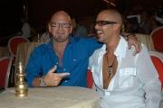 Gioia Botteghi/OMEGA 15/09/05 Conferenza stampa della trasmissione BALLANDO CON LE STELLE, nelle foto: Mazzocchi ed il suo sosia il ballerino sergio Glauco Sampaoli