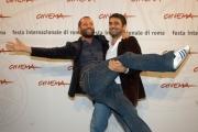 Gioia Botteghi/OMEGA 14/10/06Festa del cinema di Roma, presentazione del film UNO SU DUE, nelle foto: Eugenio Cappucci regista con Fabio Volo