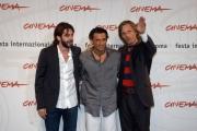 Festa del cinema di Roma4° giornata presentazione del film  Alatriste nelle foto:  Viggo Mortensen, Eduardo Noriega,  Enrico Loverso