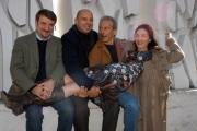 Gioia Botteghi/OMEGA 21/11/06presentazione del film ANPLAGGHED AL CINEMA nelle foto: Aldo Giovanni e Giacomo con Silvana Fallisi