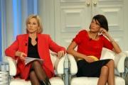 Gioia botteghi/OMEGA 21/11/06Porta a Porta del 22/11, nelle foto:  Il ministro Giovanna Melandri e Fernanda Lessa