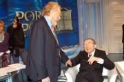 Gioia Botteghi/OMEGA 5/12/06PORTA A PORTA puntata del 5-12_06 nelle foto: Paolo Guzzanti con il senatore Andreotti