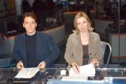 Gioia Botteghi/OMEGA 14/12/06Presentazione del nuovo direttore , Corradino Mineo e del nuovo studio di RAI NEWS 24, nelle foto: Alessandro Baracchini e Mariella Zezza