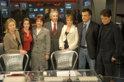 Gioia Botteghi/OMEGA 14/12/06Presentazione del nuovo direttore , Corradino Mineo e del nuovo studio di RAI NEWS 24, nelle foto Tutta la redazione