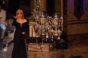 Gioia Botteghi/OMEGA 3/12/06 Puntata finale di BALLANDO CON LE STELLE nelle foto Milly con le coppe