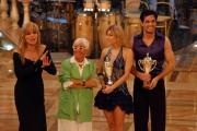 Gioia Botteghi/OMEGA 3/12/06 Puntata finale di BALLANDO CON LE STELLE nelle foto Antonio Cupo e Giada Giacomoni III classificati