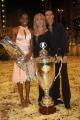Gioia Botteghi/OMEGA 3/12/06 Puntata finale di BALLANDO CON LE STELLE nelle foto i vincitori Fiona May e Raimondo Todaro con Milly e la coppa