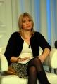 12/02/07 puntata di porta a porta in onda il 12701 nelle foto Alessandra Mussolini mentre legge alcune fotocopie dei presunti diari del nonno