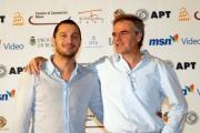 OMEGA/Gioia Botteghi 2/07/07ROMA FICTION FEST presentazione del film MA IL CIELO é SEMPRE PIU BLU, nelle foto: Claudio Santamaria con il regista Marco Turco