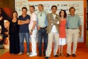 OMEGA/Gioia Botteghi 5/07/07Roma Fiction Fest Presentazione del film L'Affaire Ben Barka, nelle foto: il protagonista Atmen Kelif con il regista Jeanne Pierre Sinapi e tutto il cast