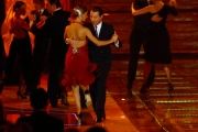 15/09/07 Gioia Botteghi/OMEGA Prima puntata di IL TRENO DEI DESIDERI condotto da Antonelle Clerici con lei nelle foto il ballerino di tango Michel Angel Zotto con una concorrente