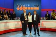7/10/07 Prima puntata di DOMENICA IN, nelle foto:  Massimo Giletti, Baudo e Bianchetti