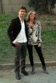 7/10/07 Prima puntata di DOMENICA IN, nelle foto: Maria Petruolo ed Ettore Bassi protagonista sel film Tv Francesco e Chiara
