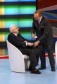 11/10/07 Cossiga ospite di Domenica in nello spazio di Baudoasciuga i pantaloni dell'ex presidente bagnati di acqua