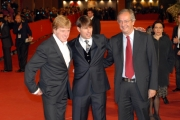23/10/07 Festa del cinema di Roma presentazione del film LIONS FOR LOMBS nelle foto: Tom Cruise e Robert Redford con Walter Veltroni