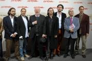 24/10/07 festa del cinema di Roma, presentazione del film Zero - nella foto :  Dario Fo e tutto il cast tecnico