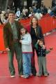 26/10/07 Festa del cinema di Roma presentazione del film COME D'INCANTO Amanda Sandrelli con famiglia
